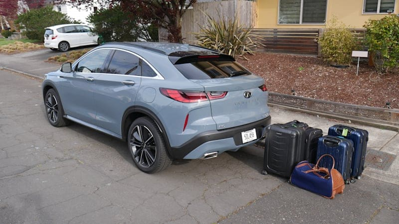 2022 Infiniti QX55 Luggage Test   The price to be paid for a coupe