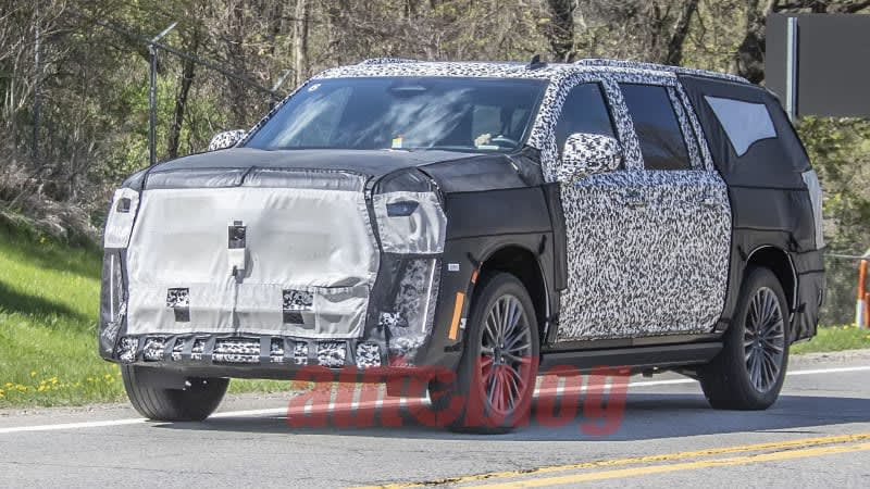 Mystery Cadillac Escalade prototype spied testing on public roads