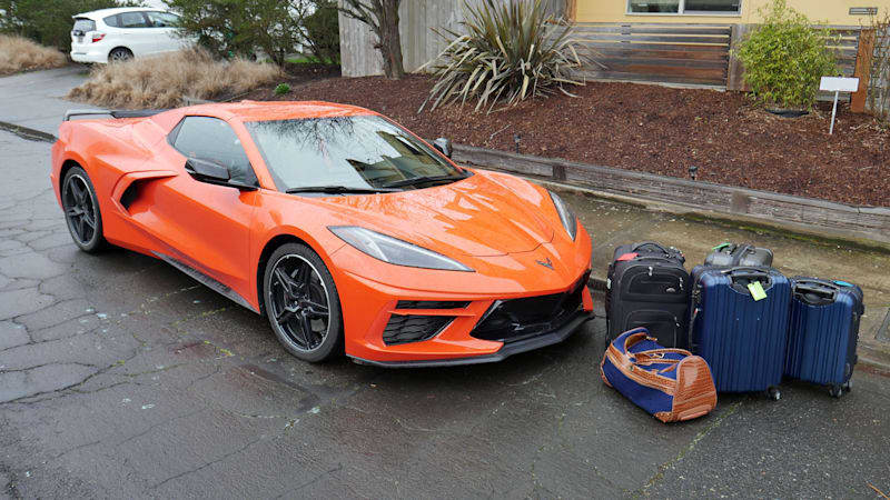 Chevrolet Corvette Luggage Test | Now with 100% more frunk