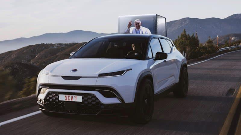 Fisker announces plans to build an electric pop-up Popemobile