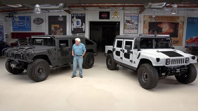 Mil-Spec Hummers rumble into Jay Leno's Garage