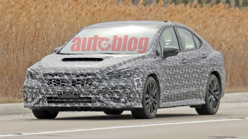 Next-generation Subaru WRX in thin camouflage appears in spy photos