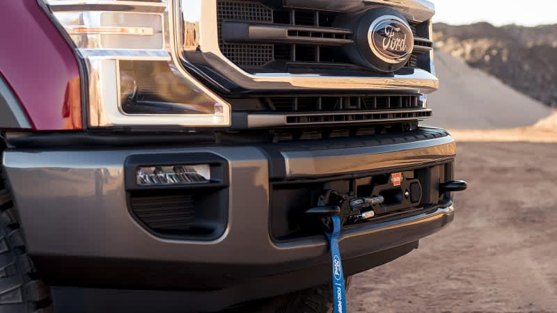 Ford Performance Warn winch now available for other Super Duty models