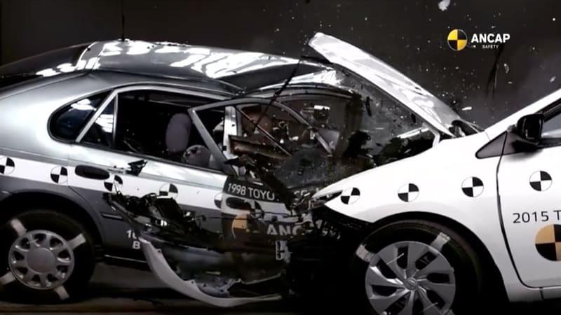 Corolla vs. Corolla: Crash test shows how far, how fast safety has advanced