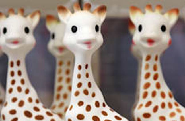 Toymakers respond to Sophie The Giraffe 'mould' accusations