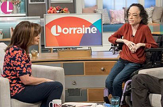 Lorraine Kelly makes gaffe during interview with disabled actress