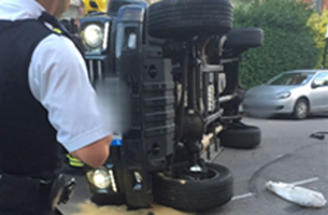 Nick Grimshaw 'doing fine' after flipping car to avoid cat