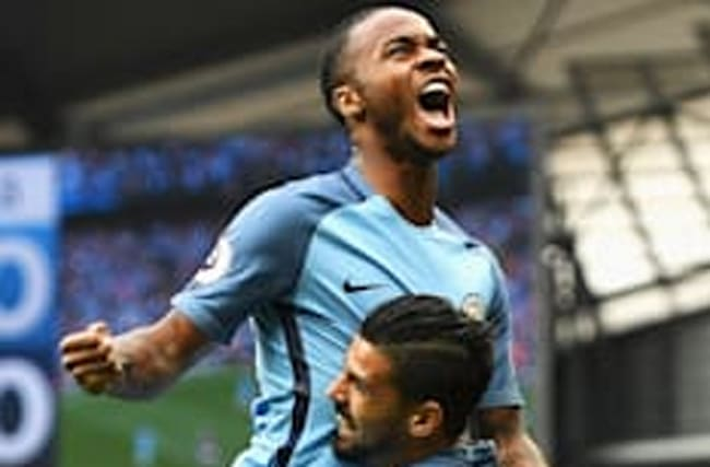 Sterling nets twice as Man City see off West Ham to go top