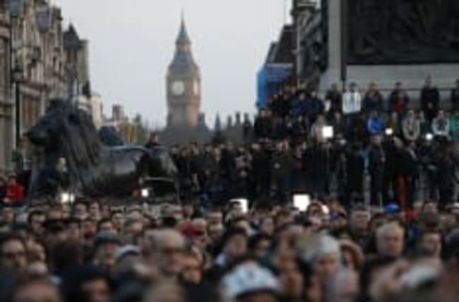 Londoners unite to declare 'we are not afraid' at terror attack vigil
