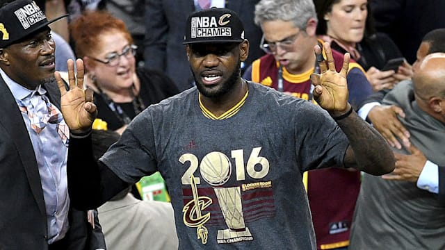 buy online 94d38 e4dc8 LeBron named NBA Finals MVP for a third time
