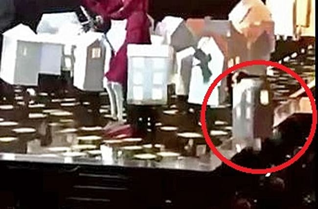 Ouch! Dancer falls off stage at Katy Perry's Brits performance
