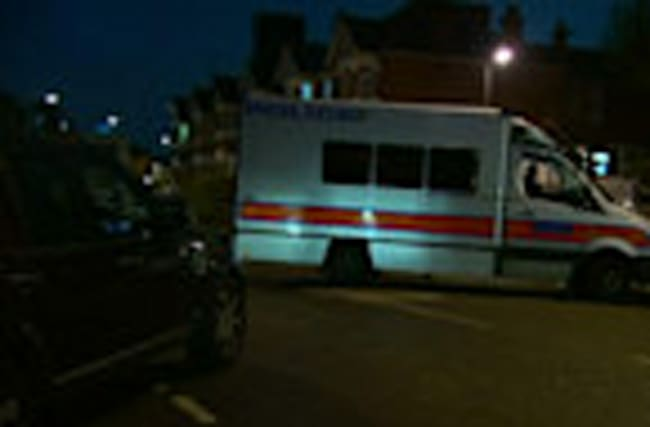 One shot, four arrested in London anti-terror raid
