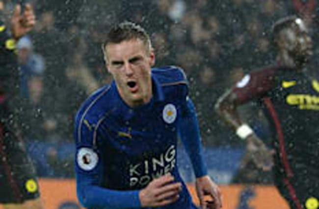 Vardy back in business as champions upset Man City