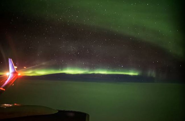 Video: Northern Lights captured on film out of plane window