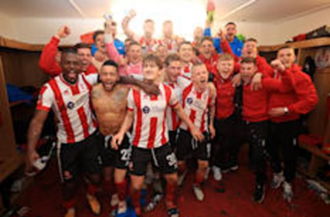 Scenes as Sutton and Lincoln beat league opponents in FA Cup