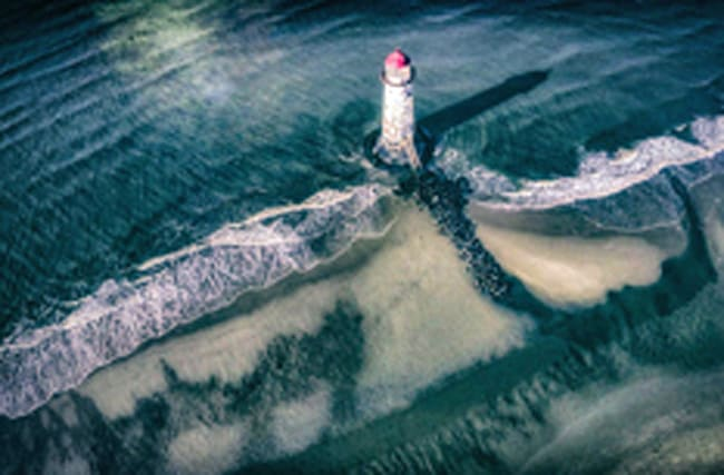 Stunning photo of UK lighthouse captured using a drone