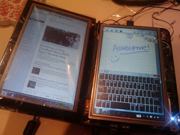 Modder creates dual-screen Courier from Dell Mini 9, calls it Harlequin, Joker unavailable for comment