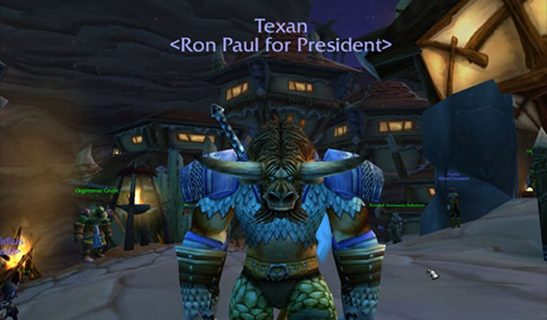Ron Paul advocates plan in-game WoW rally