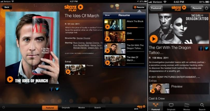 New Starz Play website and apps stream only to Cox customers, but you might not need them