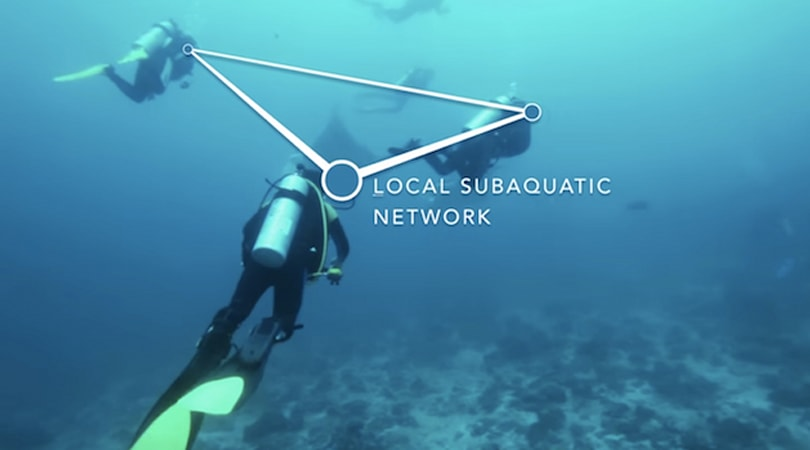 Scuba divers get their own underwater comms network