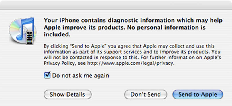 Apple's in your iPhone, reading your diagnostic information