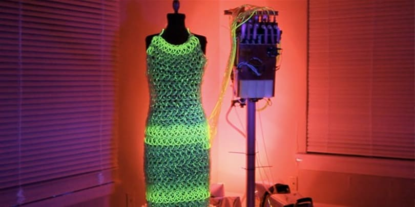 Charlie Bucket creates fantastic lighted dress with knitted tubing and a pump, Veruca Salt demands ten