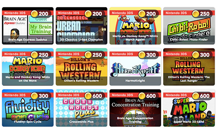Cash out of Club Nintendo by trading Coins for games