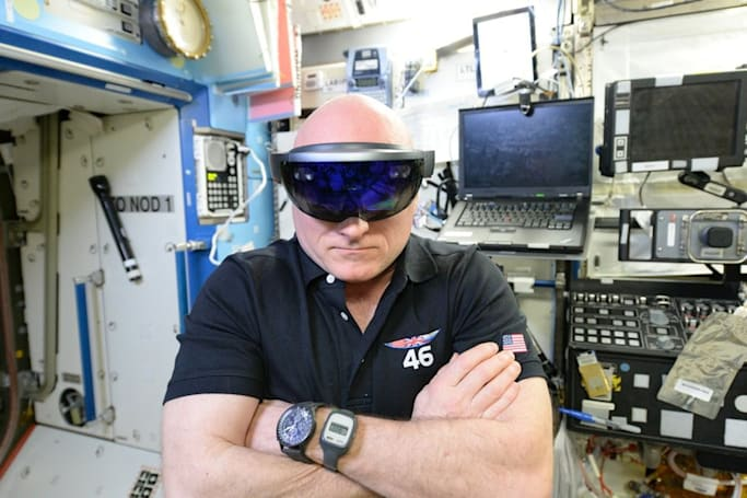 Astronauts are trying Microsoft HoloLens in space