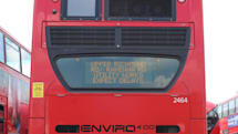London buses to show live traffic updates in rear windows