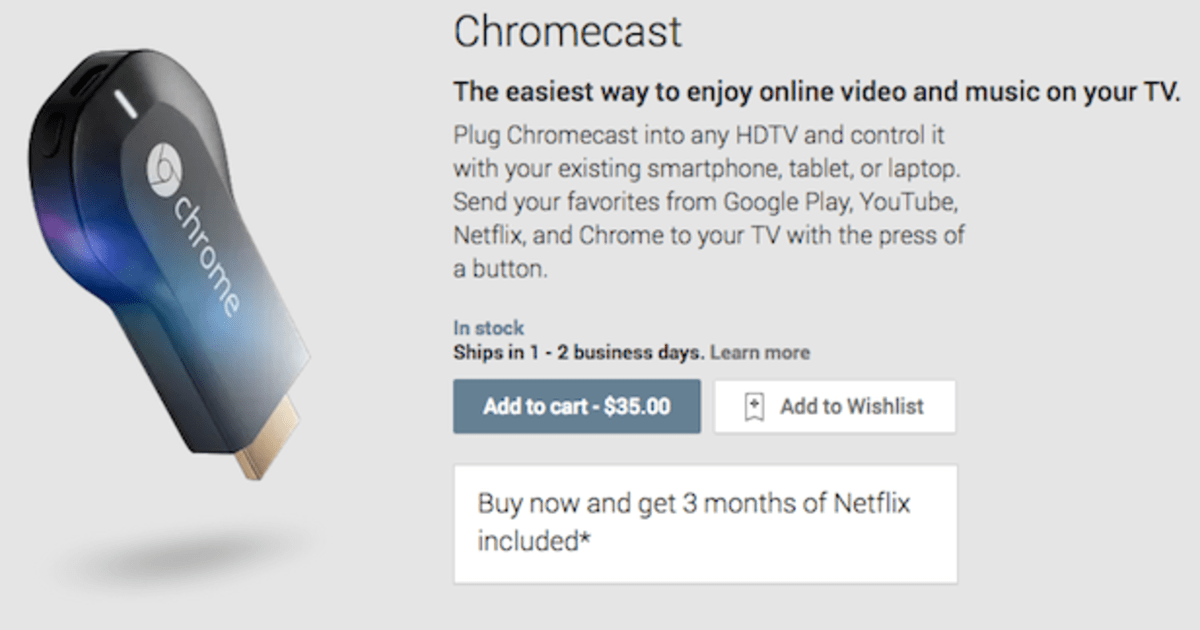 google introduces chromecast a 35 hdmi streaming. Black Bedroom Furniture Sets. Home Design Ideas