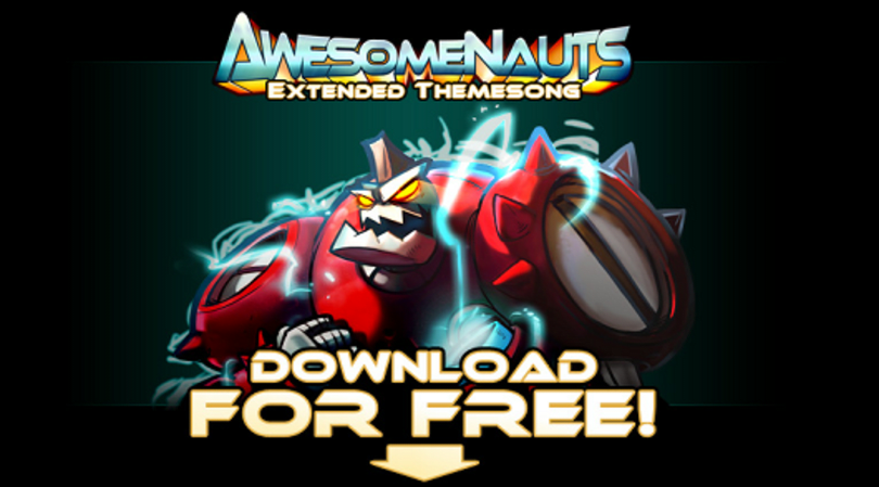 Get the Awesomenauts theme song for free now, soundtrack next week
