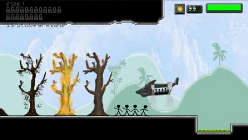 Stick Man Rescue gets to the chopper on PS Minis