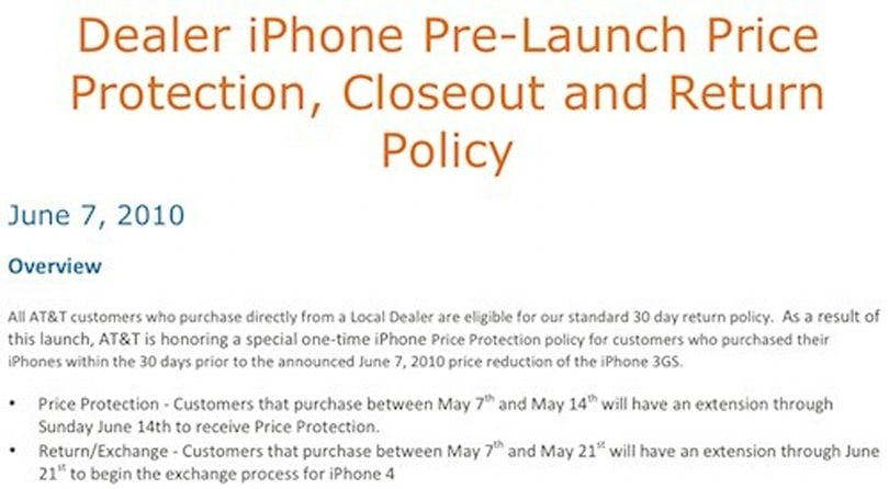 AT&T offering price protection (or iPhone 4 swap) to recent 3GS buyers