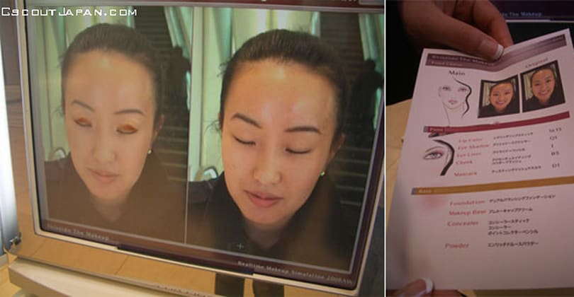 Augmented reality mirror picks makeup for the ladies (video)
