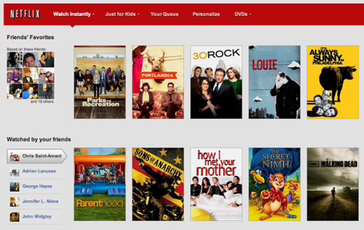 Netflix Social shares your viewing habits with Facebook friends