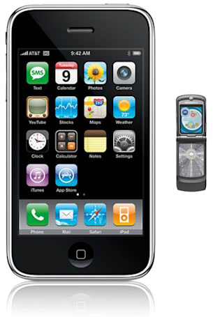 iPhone 3G overtakes the RAZR as best-selling domestic handset
