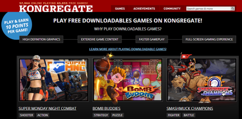 Kongregate adds downloadable, free games to browser-based roster