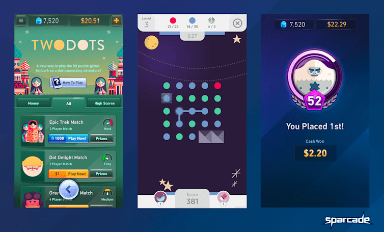 'Two Dots' now has a competitive mode where you can play for real money