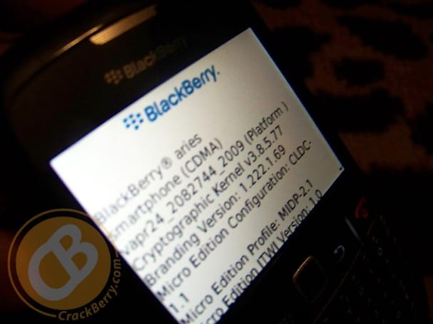BlackBerry Aries spotted: a Gemini with CDMA in its heart