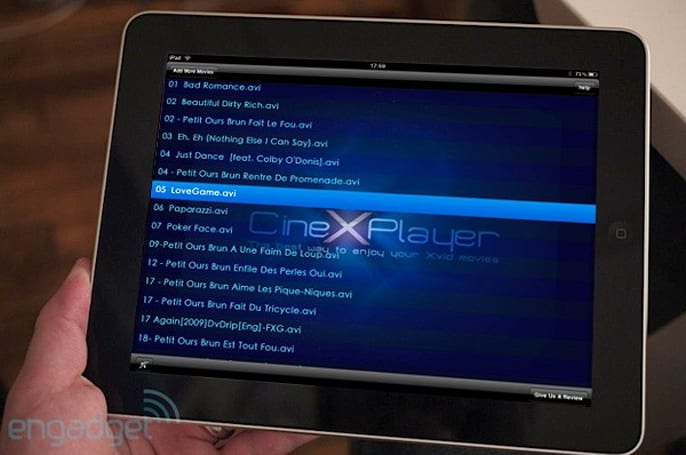 Is CineXPlayer for iPad struggling to deliver on its Xvid-playing promise?