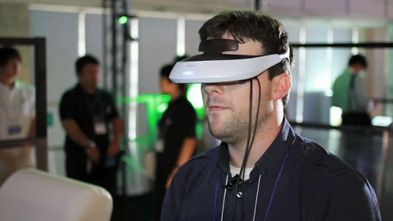 Strapping on Sony's HMZ-T2 Personal 3D Viewer