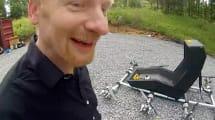 Bastler hebt im selbstgebauten Octocopter ab