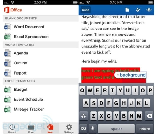 Microsoft Office Mobile for iPhone hands-on