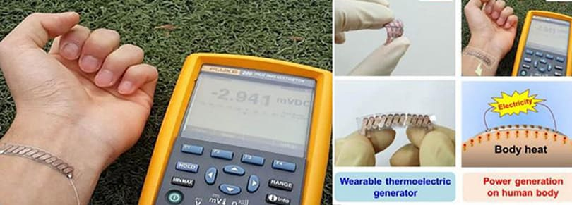 This tiny generator can power wearable devices using your body heat
