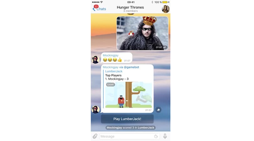 Chat app Telegram is now a gaming platform too