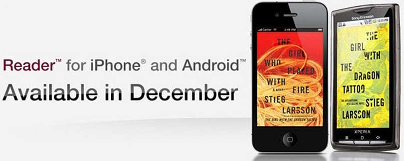 Sony Reader app hitting iPhone and Android devices in December