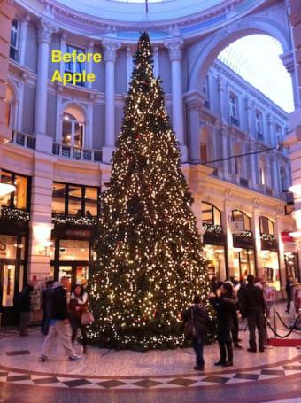 Apple's War on Christmas continues! Next victim: the Christmas tree.