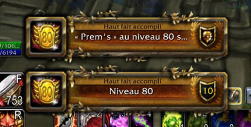 And the first World of Warcraft player to reach level 80 is...