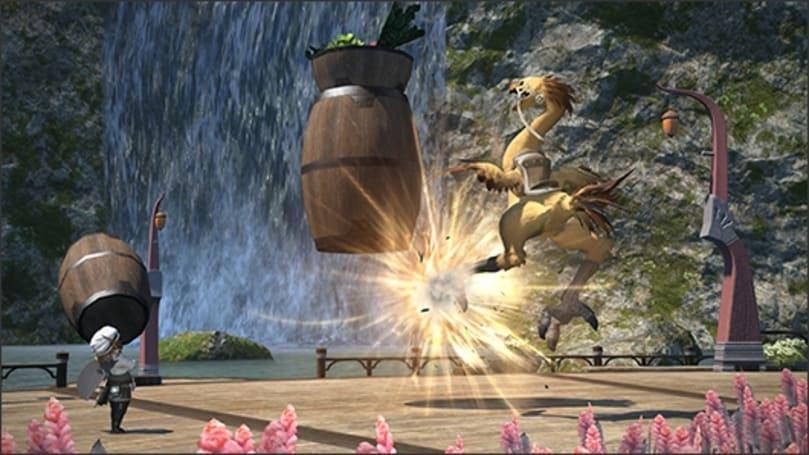 Final Fantasy XIV previews chocobo training