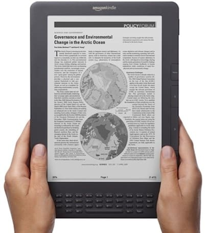 Amazon's graphite Kindle DX now shipping
